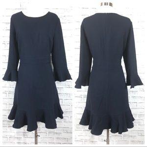 Eliza J Navy Long Sleeve Dress